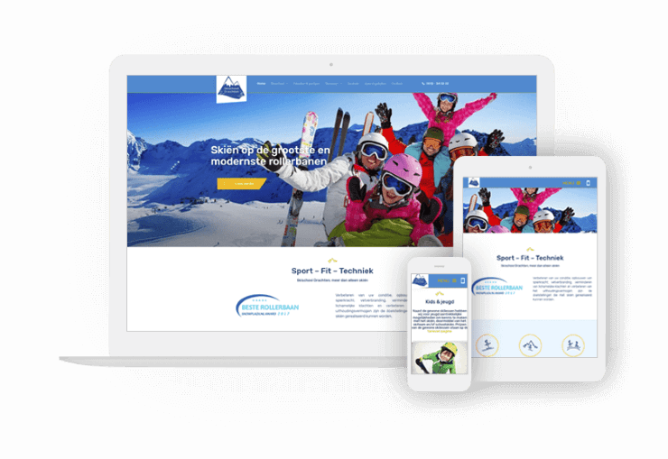 Skischool Drachten website