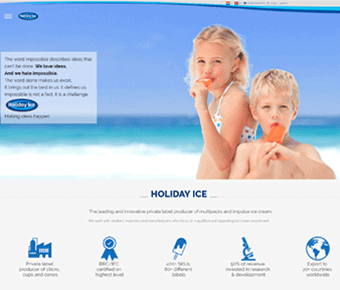 nieuwe website Holiday Ice
